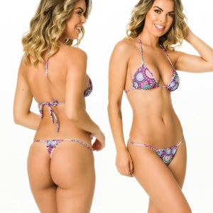 Berry Pasley - Thong Bottom & Tri Top SET
