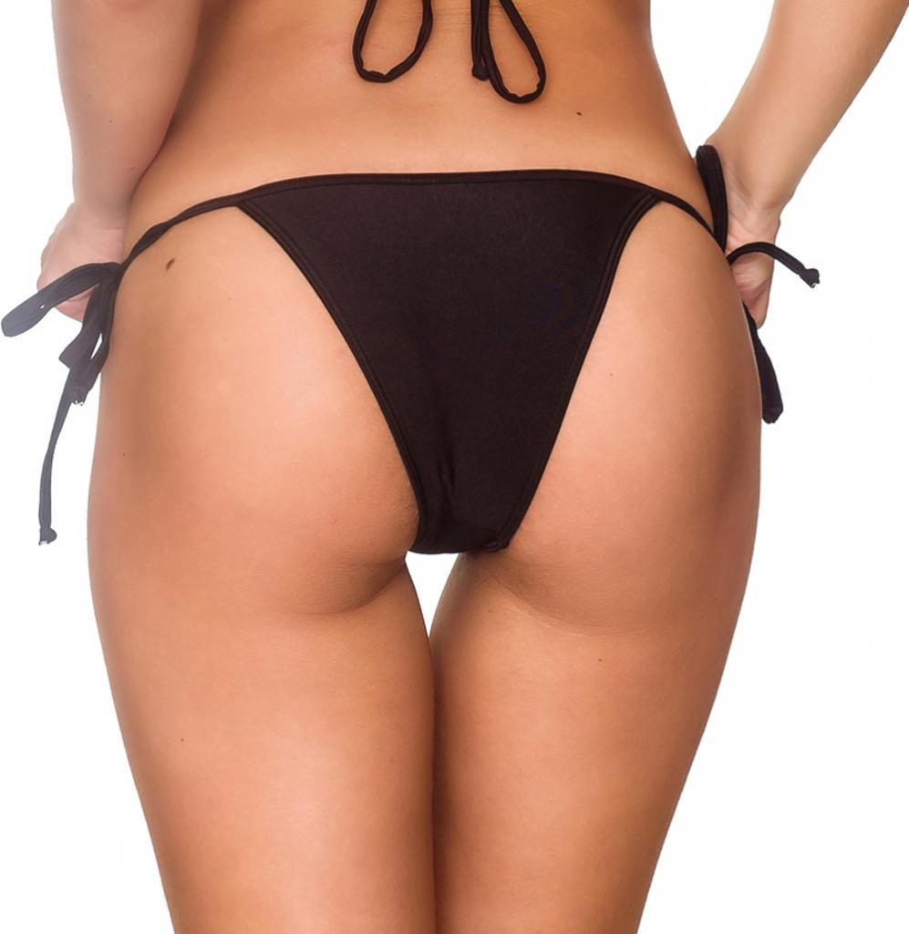 Black - String Tie Side Bottom