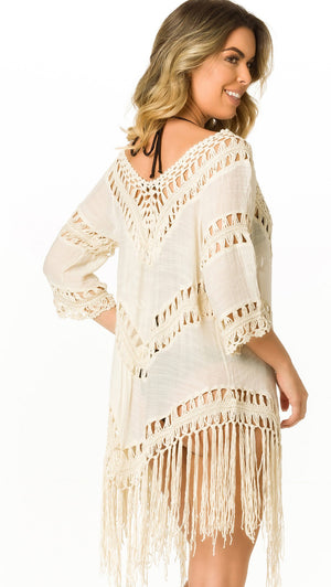 Ivory - Crochet Cover Up - 416