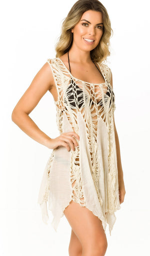 Ivory - Crochet Cover Up - 665