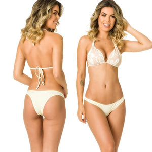 Hipster Bottom & Halter Top SET - Mocha