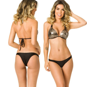 Hipster Bottom & Halter Top SET - Moonlight