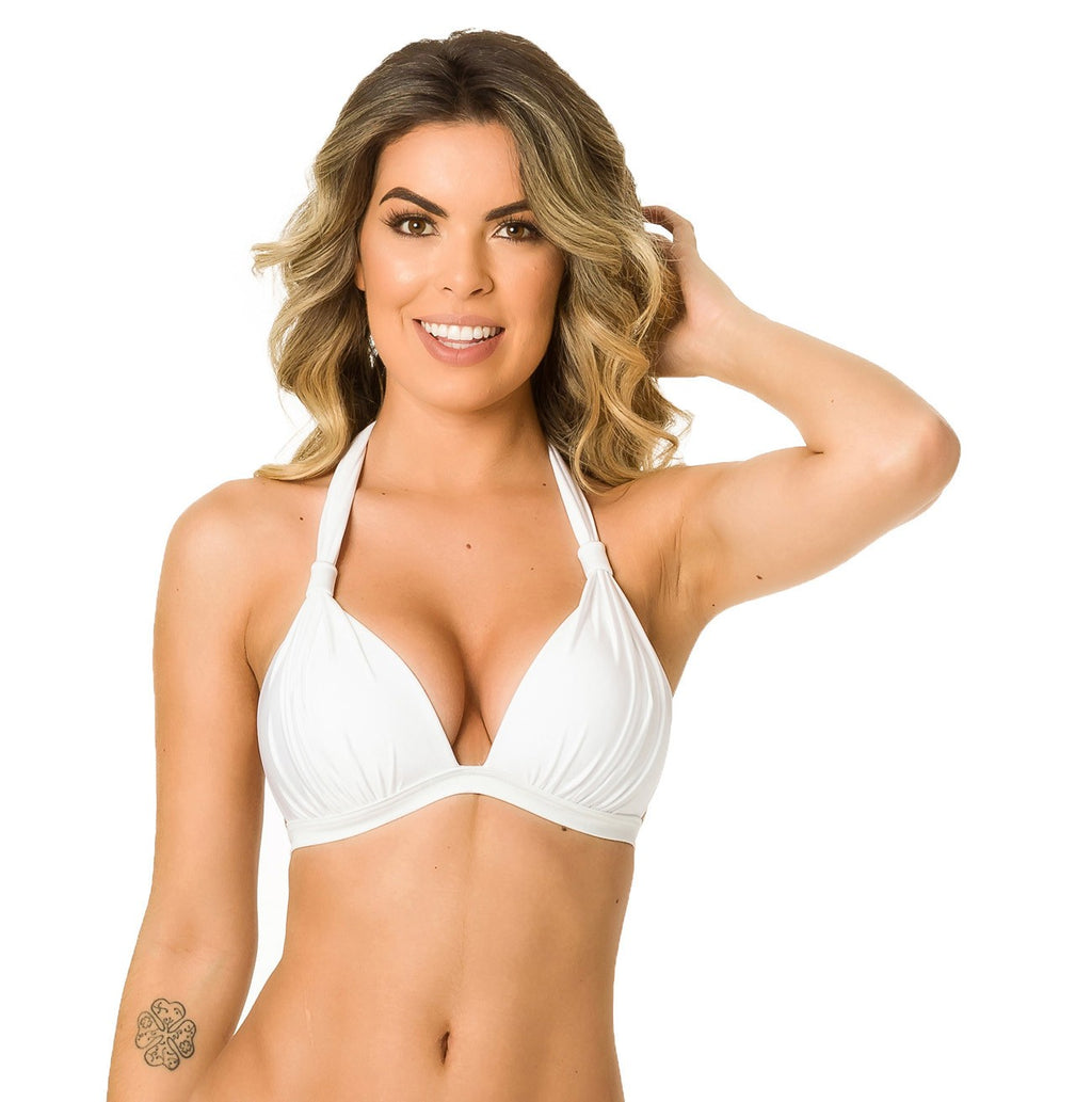 White - Halter Push up Top