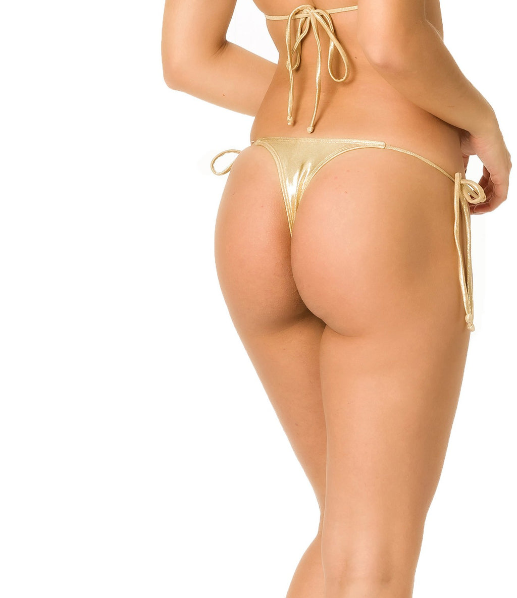 Gold - Teeny Thong Whaletail Bottom