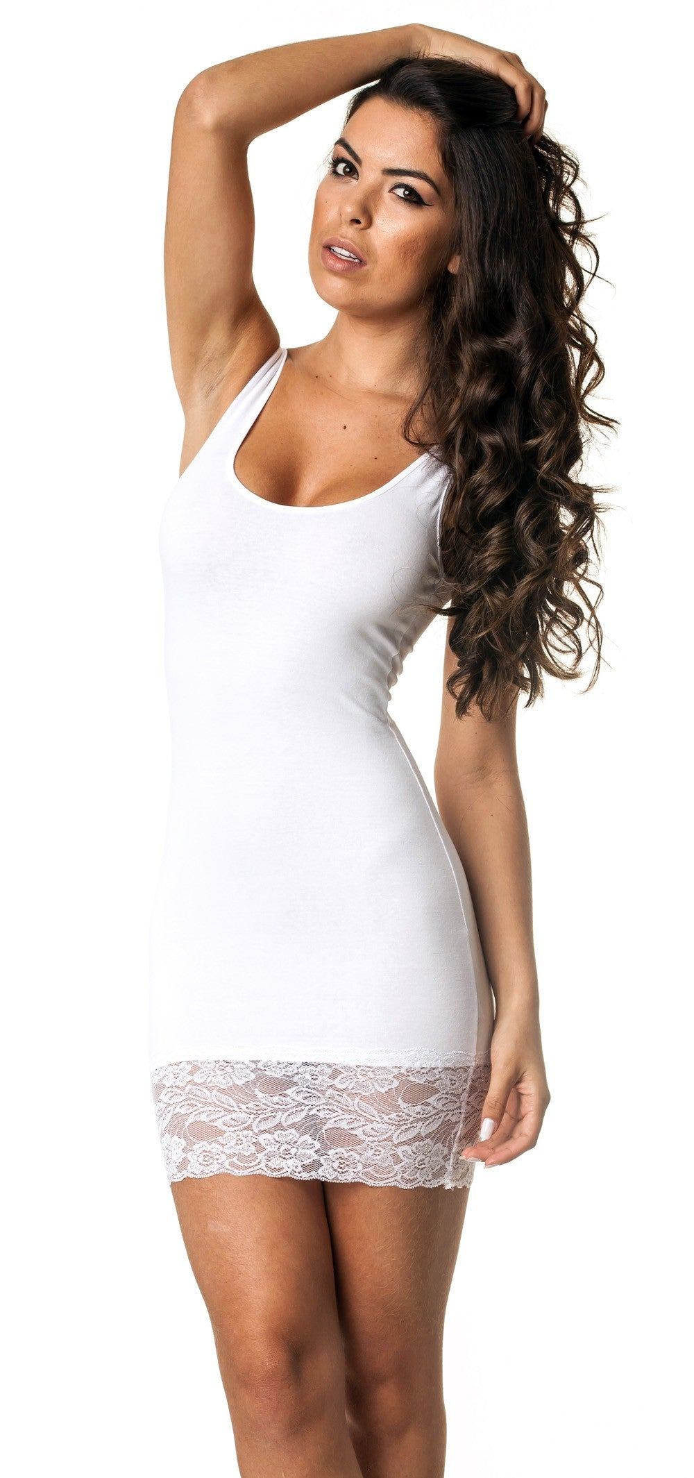 White Coqueta Lace Dress 421