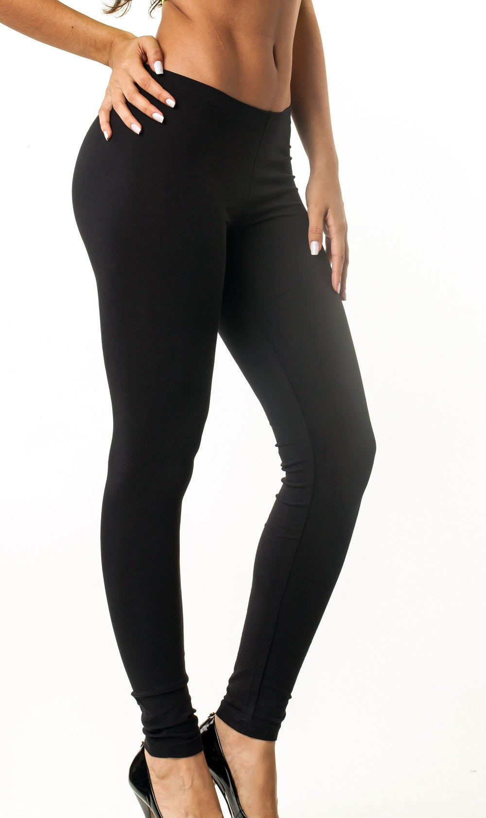 Black Full Length Legging Cotton 417