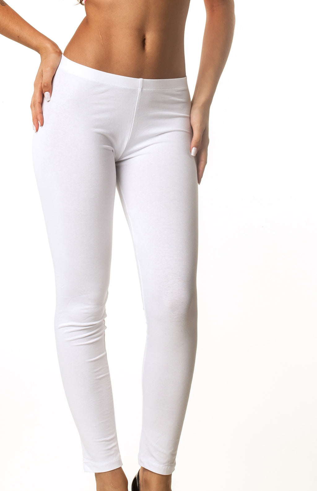 White Full Length Legging Cotton 417