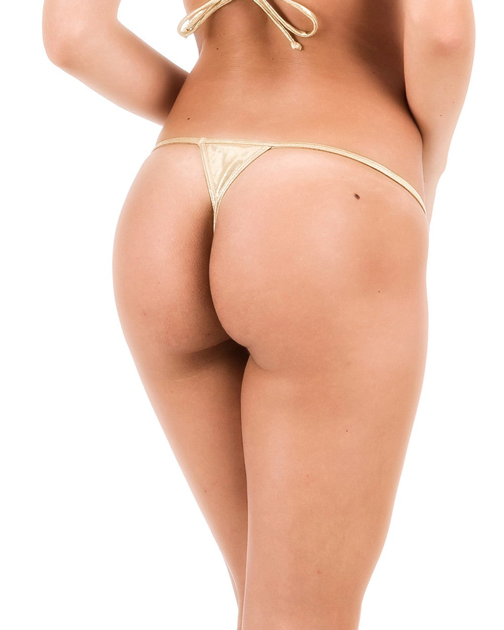 Gold - Micro Thong Bottom