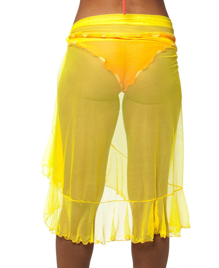 Flamenco - Yellow Ultra Sheer Mesh Sarong