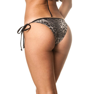 String Tie Side Bottom - Gray Leo