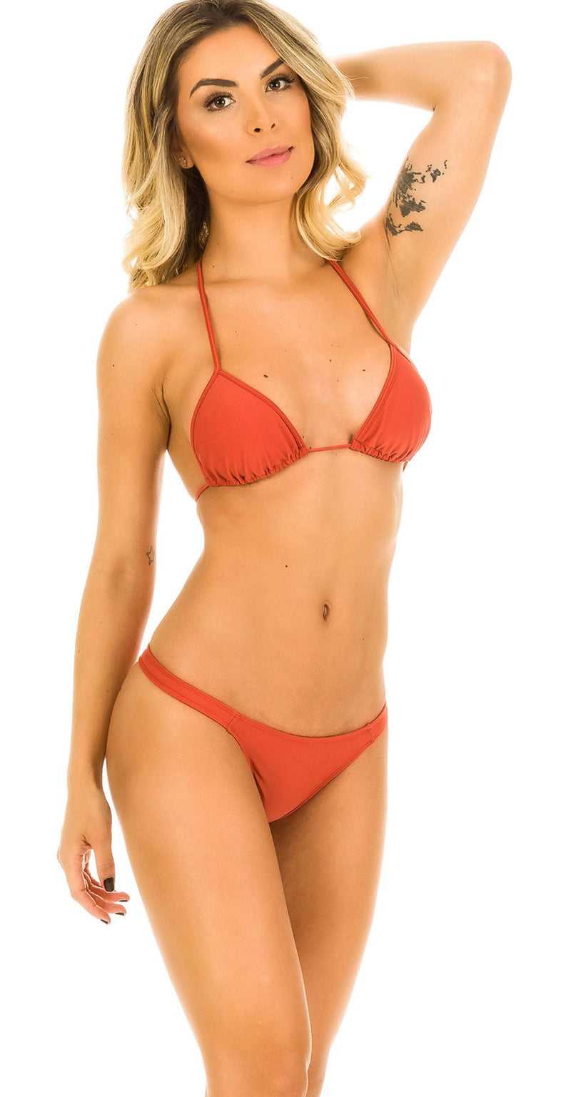 Cinnamon - Thong Bottom & Tri Top SET