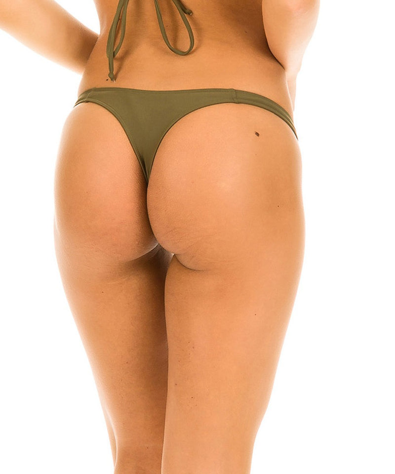 Khaki - Micro Thong Bottom