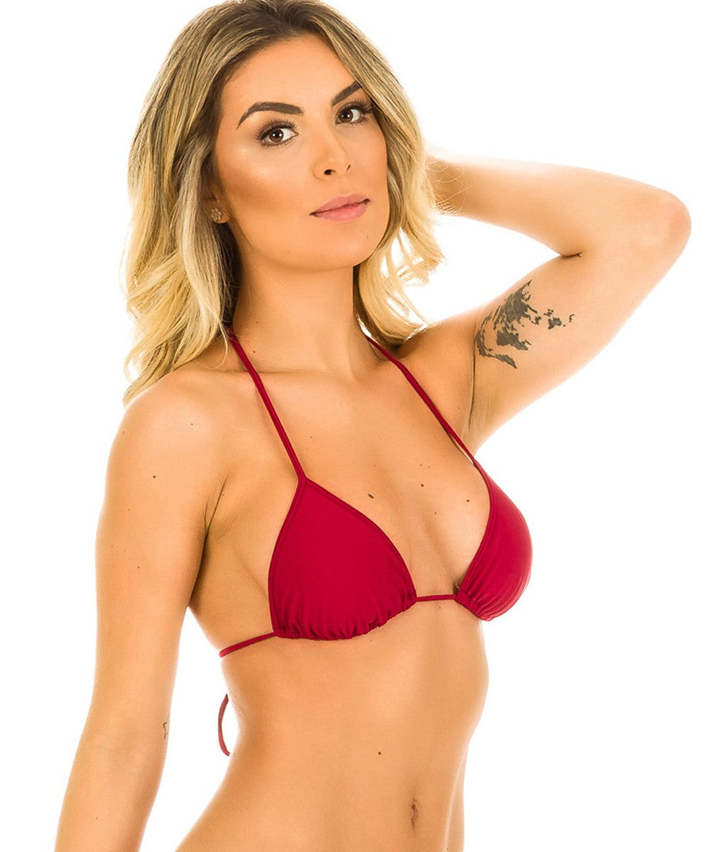 Sangria - Itsy Bitsy Triangle Top Unpadded
