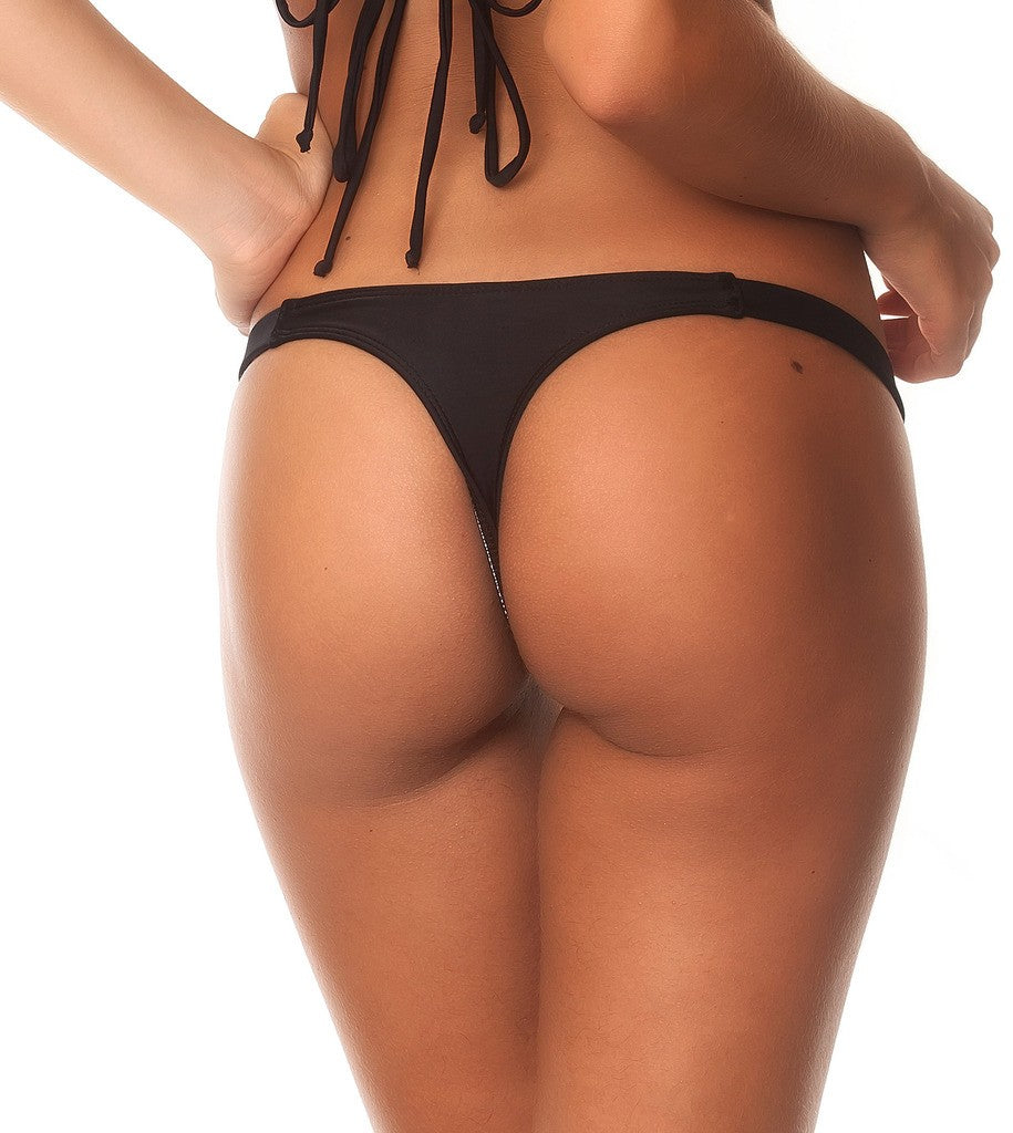 Black - Teeny Thong Bottom