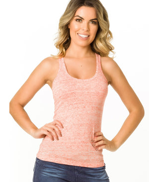 Coral - Sleeveless Racerback Sport Top