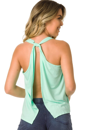 Mint - Tank Top Open Back