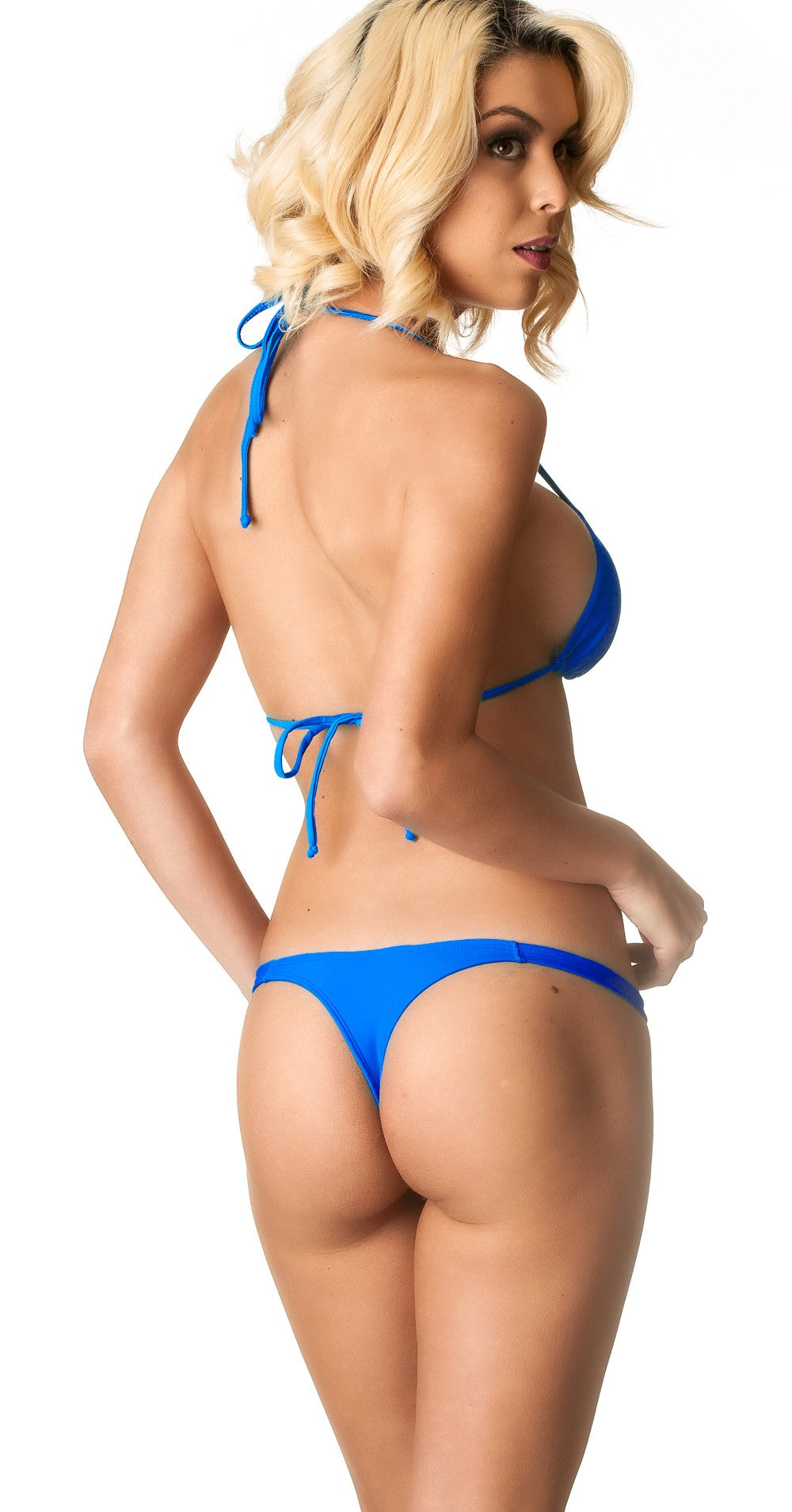 Royal - Thong Bottom & Tri Top SET