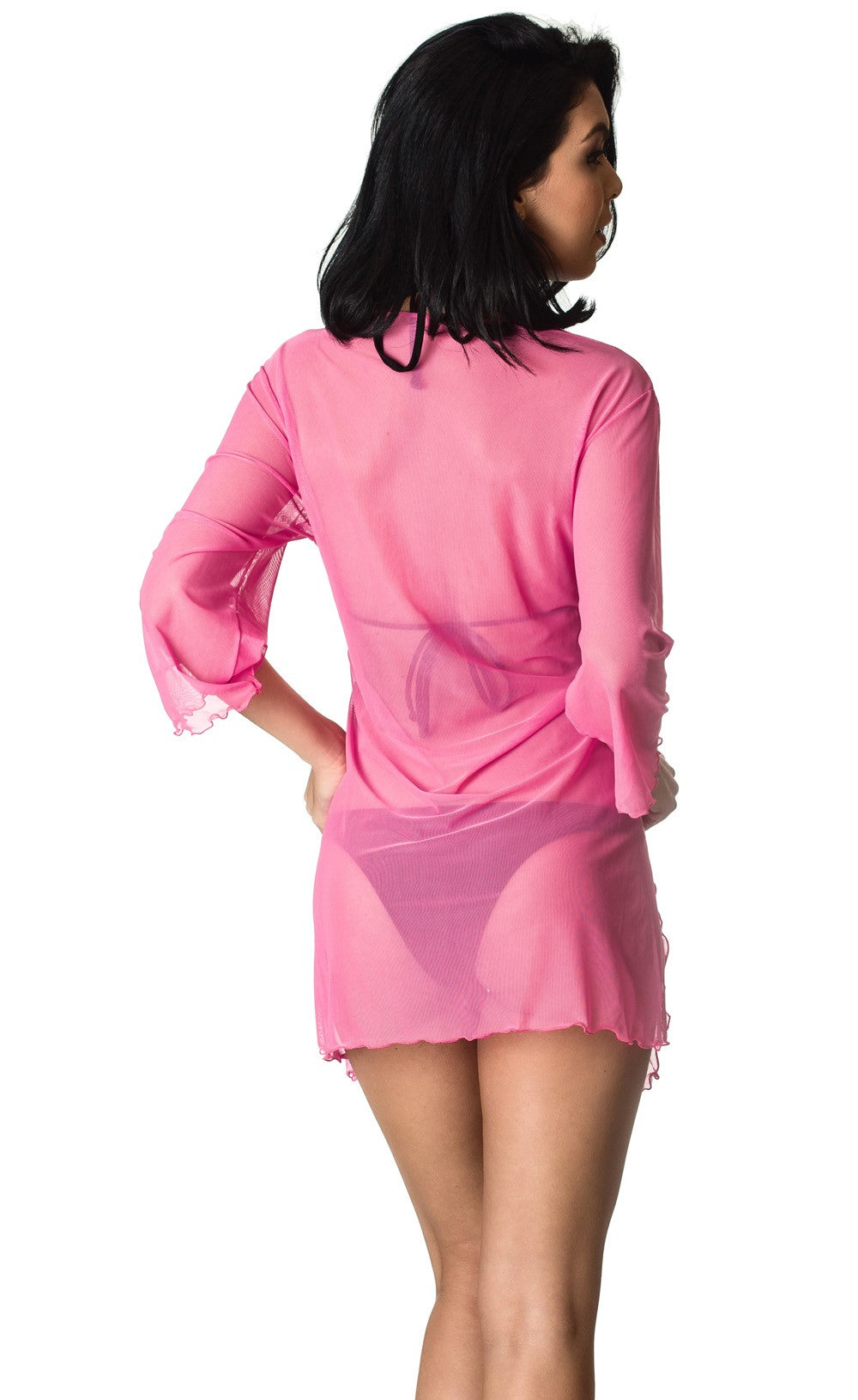 Hot Pink Mesh - Cover Up Dress