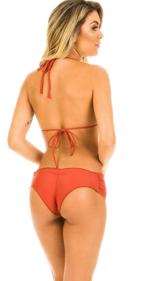 Cinnamon - Ruched Retro Bottom & Ruffles Top