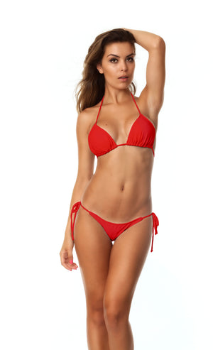 Moderate Tie Sides & Top SET - Red