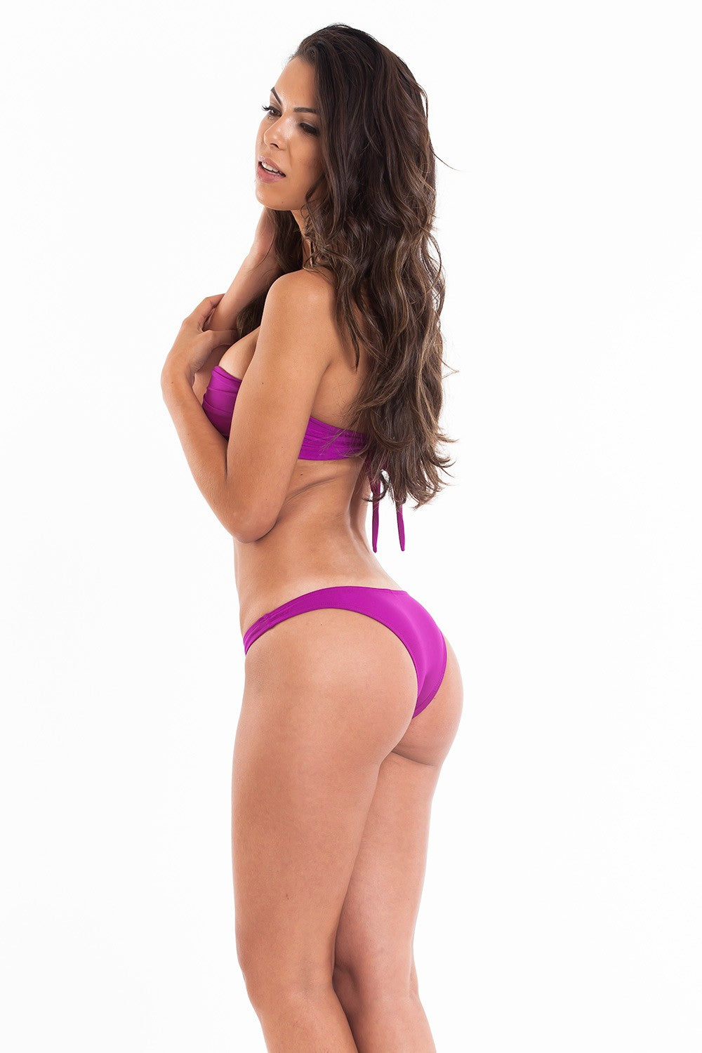 Purple - Bandeau Top & Hipster Bottom - Set