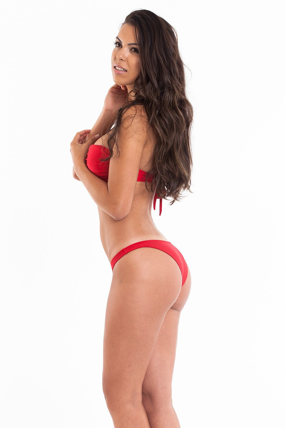 Red - Bandeau Top & Hipster Bottom - Set