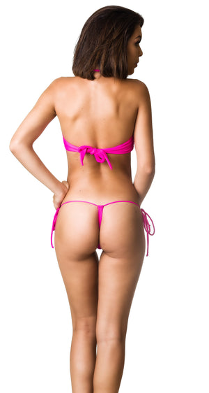 Hot Pink - Bandeau Top & G-String Bottom - Set