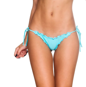 Aqua - Ruffles Thong Bottom