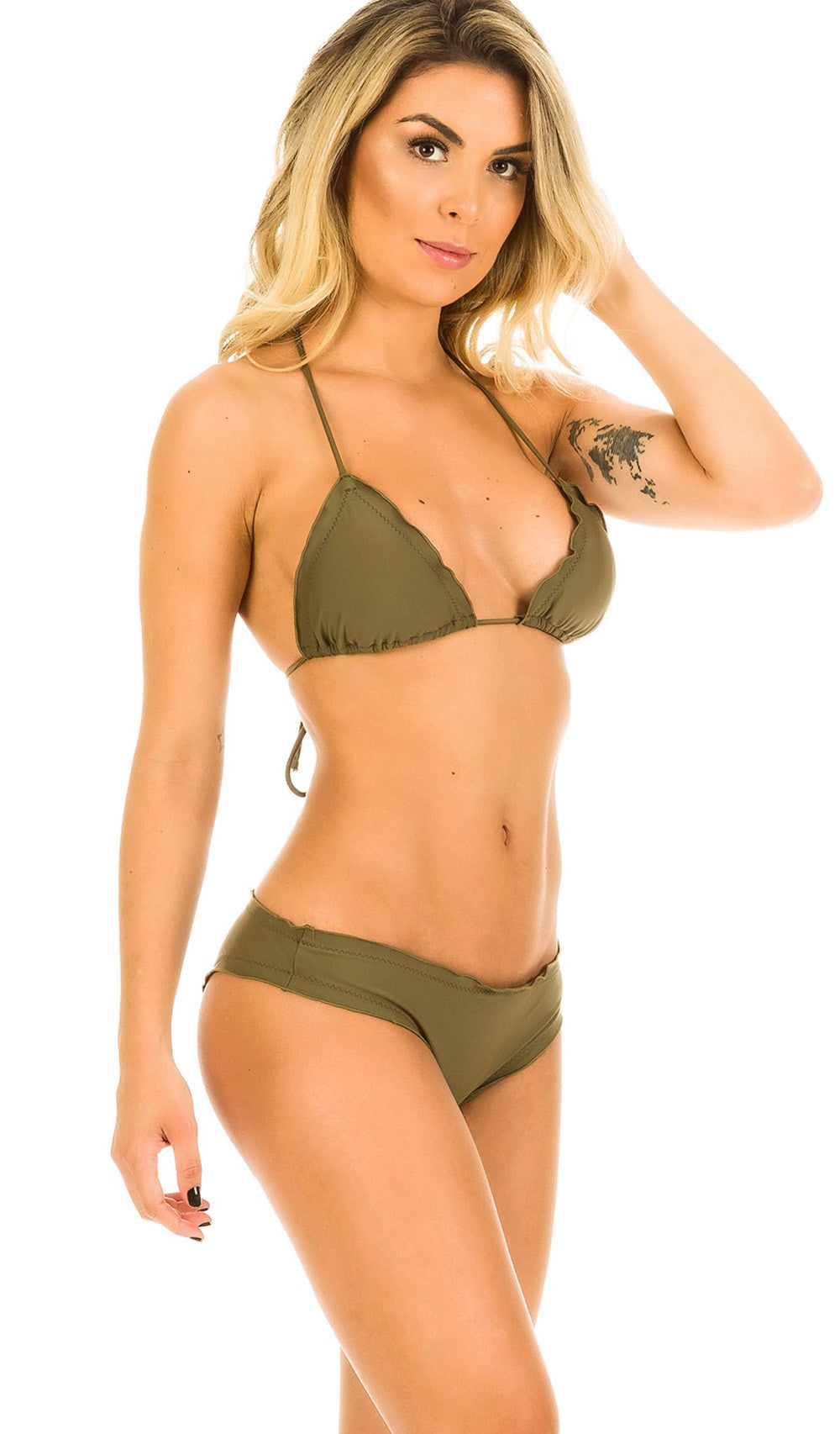 Khaki - Samba Ruffles Bottom & Ruffles Top