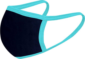 Black - Aqua FACE MASK - With pocket for filter