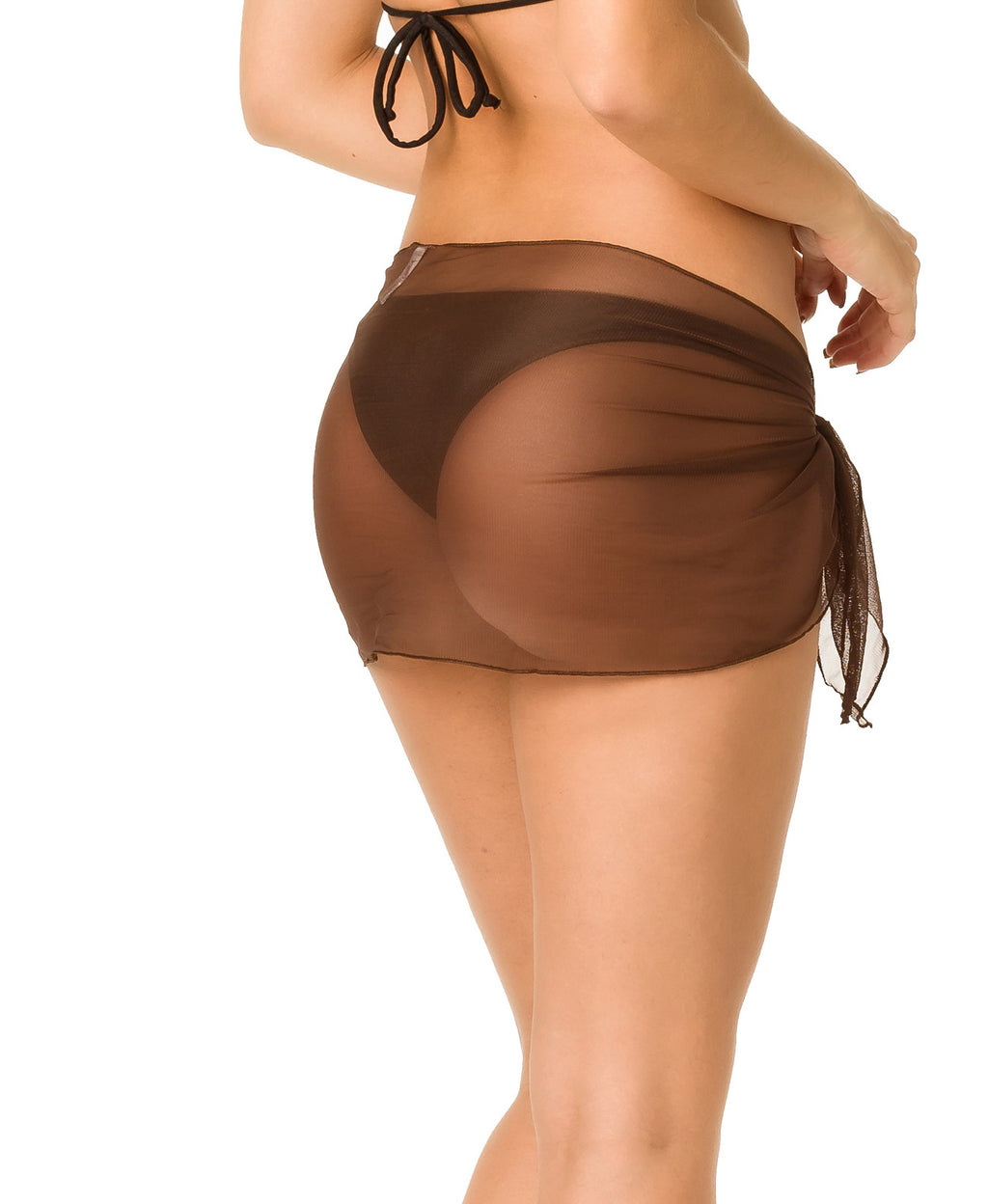 Brown - Mini Mesh Sarong