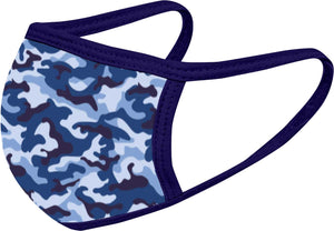 Camo Print Face Mask Five Pack - With pocket for filter