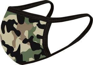 Camo Green - FACE MASK - With pocket for filter