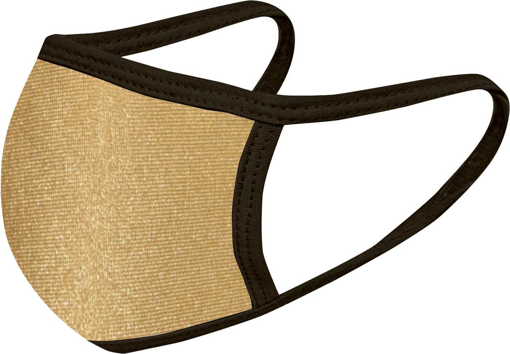 Gold Black - FACE MASK - With pocket for filter