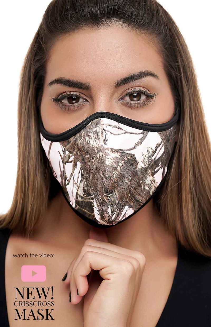 HUNTER WHITE CrissCross - FACE MASK