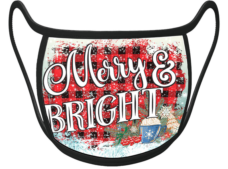 MERRY & BRIGHT - HOLIDAY Classic Face Mask With Pocket For Filter
