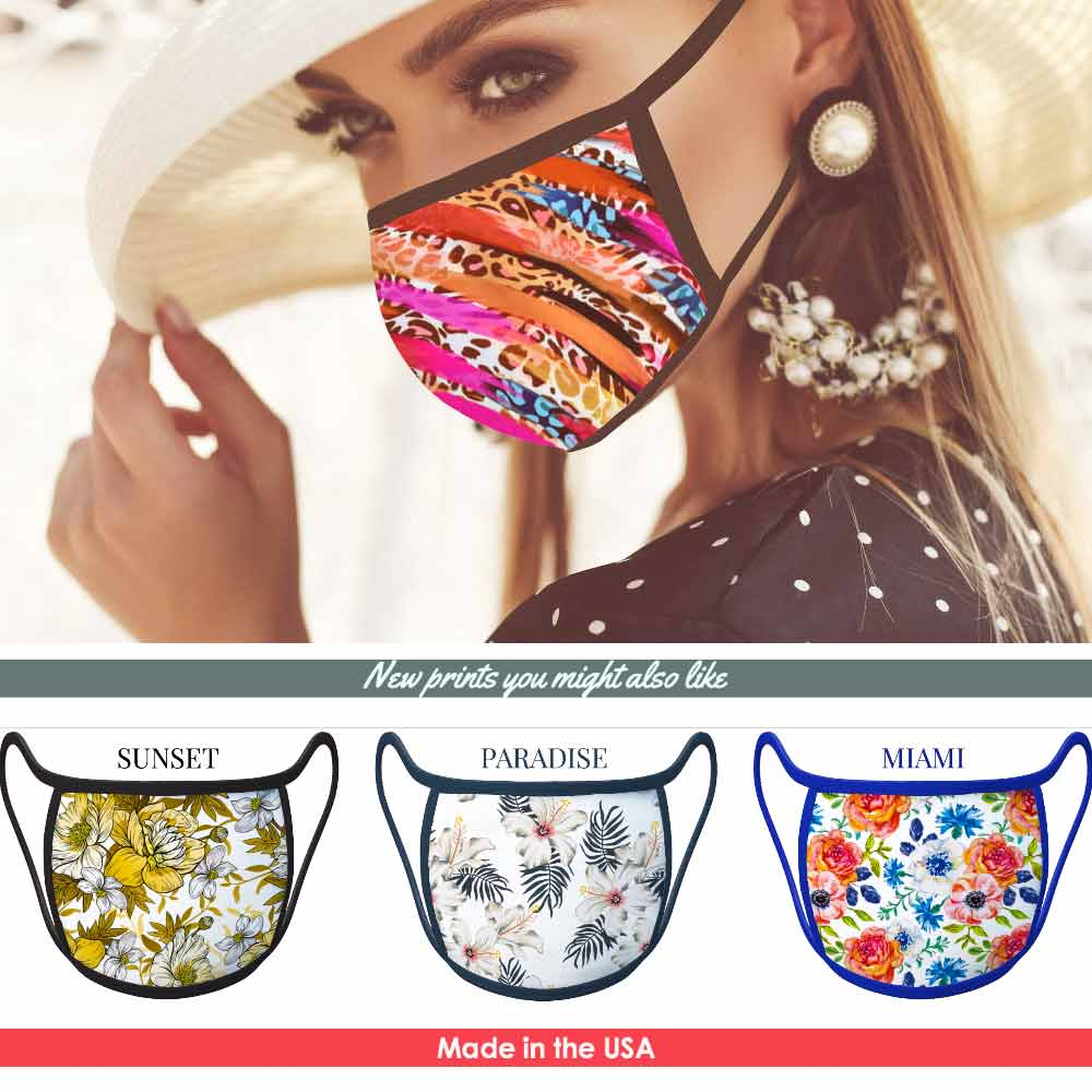 Miami - FACE MASK - With pocket for filter
