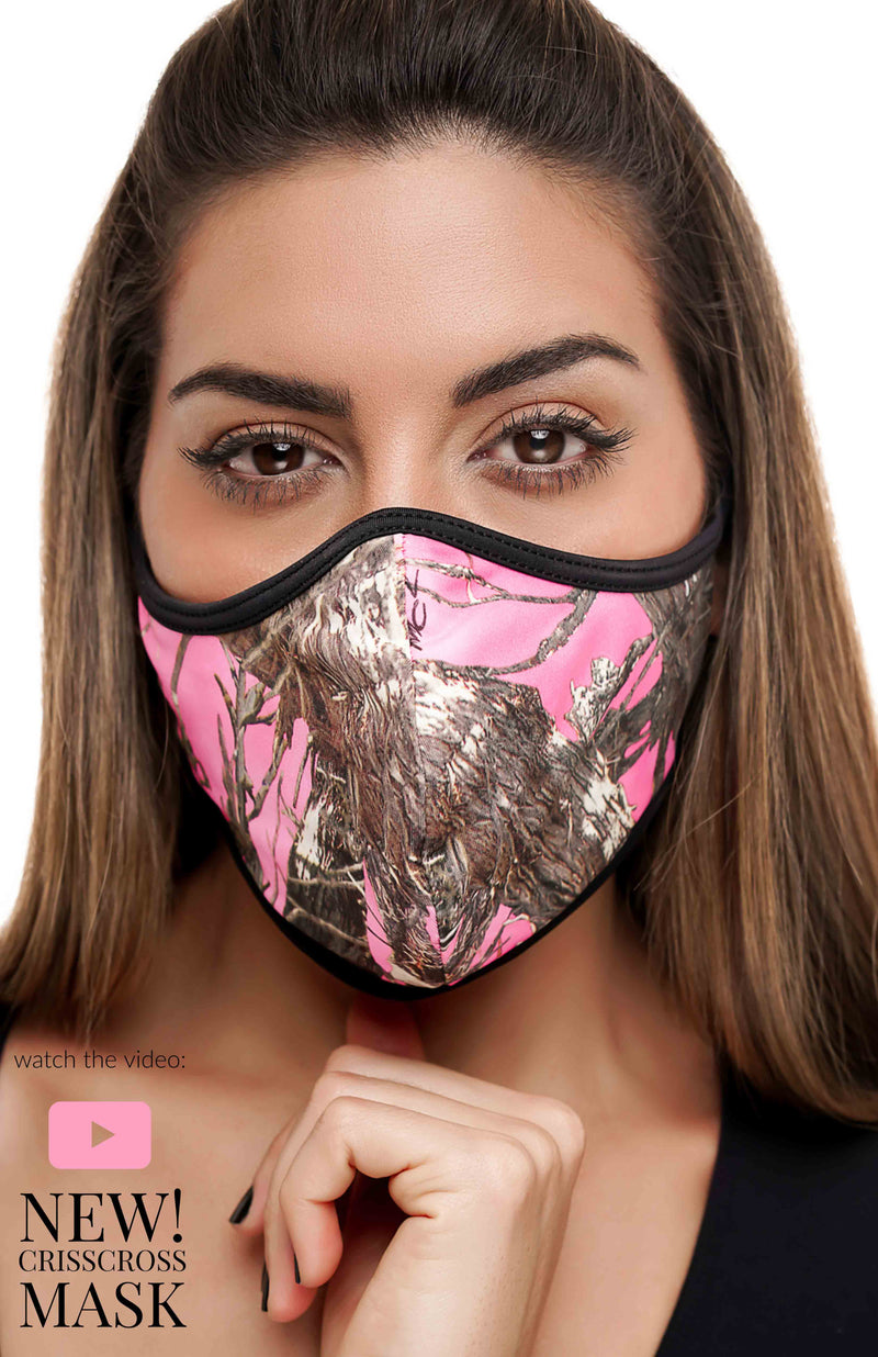 CrissCross Hunter Pink - FACE MASK