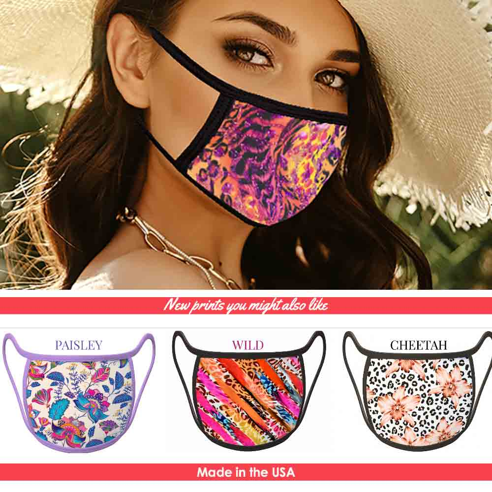 South Beach - FACE MASK - With pocket for filter