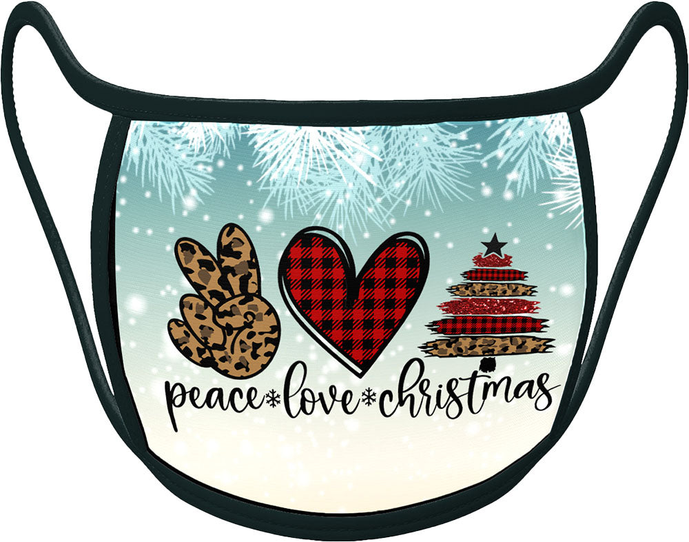 PRE ORDER - PEACE LOVE CHRISTMAS - Classic Face Mask With Pocket For Filter