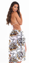 Perla - Extra Long Chiffon Print Sarong Cover UP