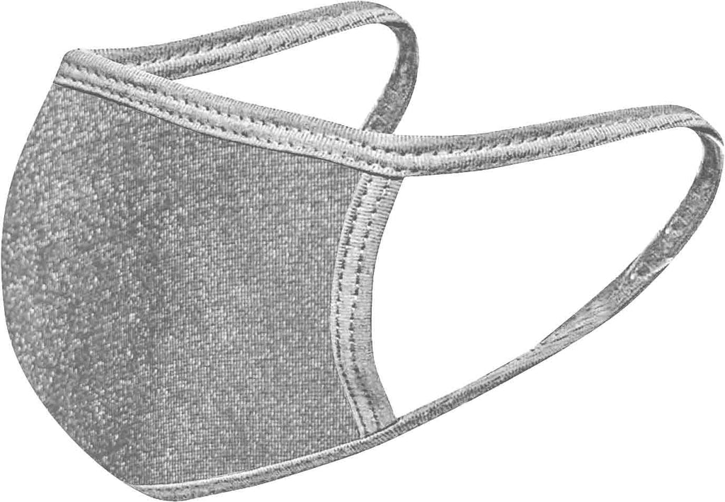 Silver - FACE MASK - With pocket for filter