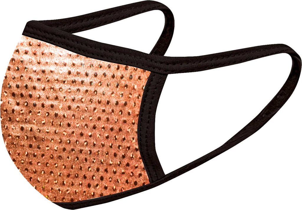 Sparkle Copper - FACE MASK - With pocket for filter
