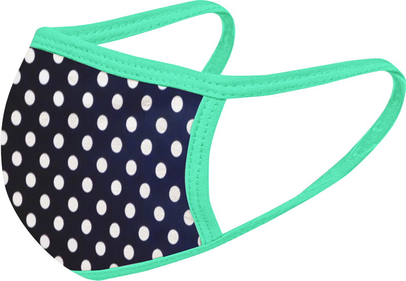 Tiffany Dots - FACE MASK - With pocket for filter