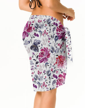 Viena - Long  Print  Chiffon Sarong Cover UP