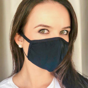 BLACK - SMALL - Face Mask - Soft & Comfortable