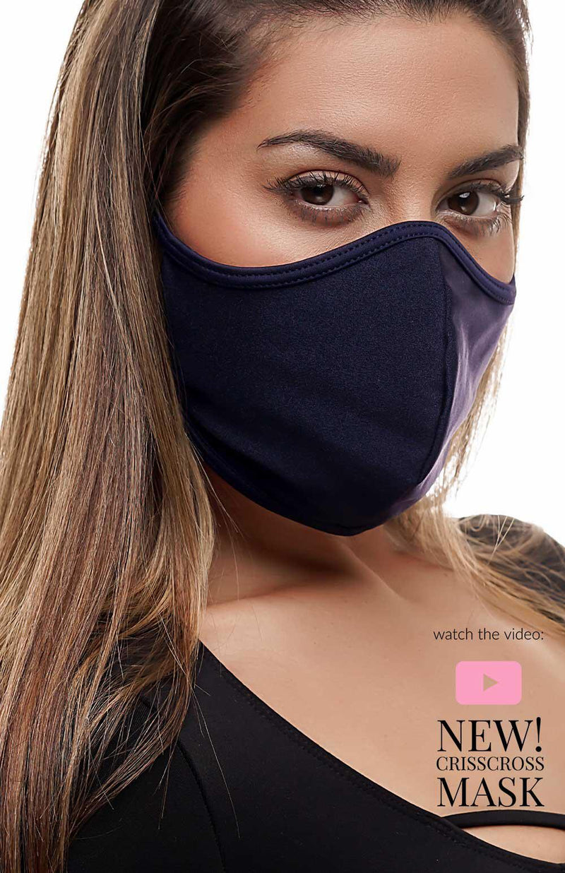 CrissCross Navy - FACE MASK