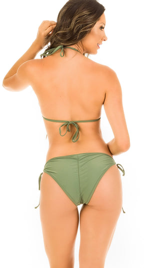 Army - String Side Moderate Coverage Bikini Set