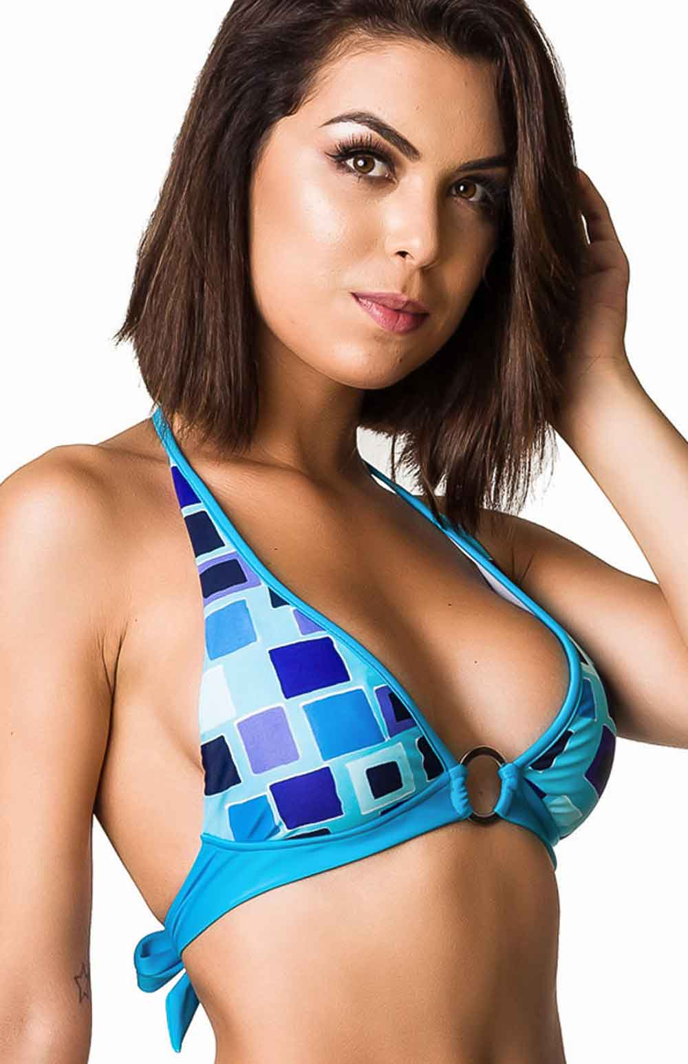 Halter Top - Blue Mix