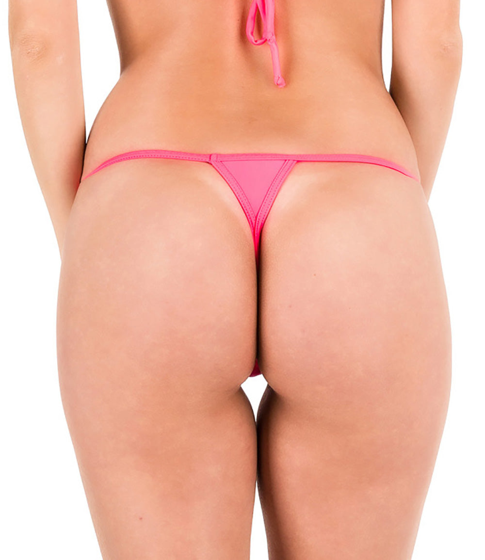 Coral - Micro Thong Bottom